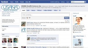 USANA's Facebook Page