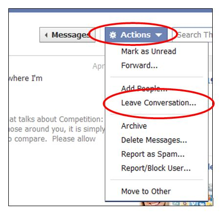 How to remove yourself from message threads on facebook direct you ccuart Choice Image