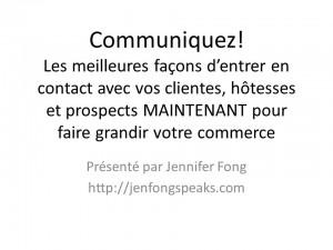 FR-Jennifer Fong V2 - Communicate! Summer Conference_Jennifer Fong 20140717