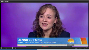 Jennifer Fong, direct selling expert, appearing on the Today Show